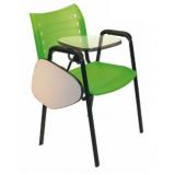 cadeira universitária com prancheta dobrável preço em Poá