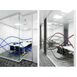 divisórias de vidro para escritório preço em Cotia