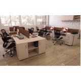 mesa coletiva para escritório em Cajamar