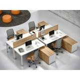 mesa de escritório com gaveta melhor preço São Caetano do Sul