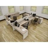 mesa de escritório com gaveta Taboão da Serra