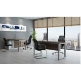 mesa de escritório em l melhor preço Poá