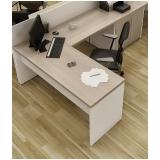 mesa escritório em l melhor preço Taboão da Serra
