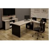 mesa escritório preta Carapicuíba