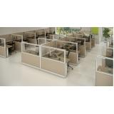 mesa para escritório com divisórias preço em Jandira