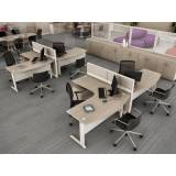 mesa para escritório com gavetas em Jandira