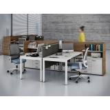 mesas de escritório com gaveta Cajamar