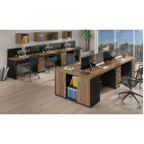 mesas para escritório com gaveta Cotia
