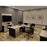 móveis para escritório preto valor Taboão da Serra
