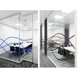 quanto custa divisória escritório com vidro em Cajamar